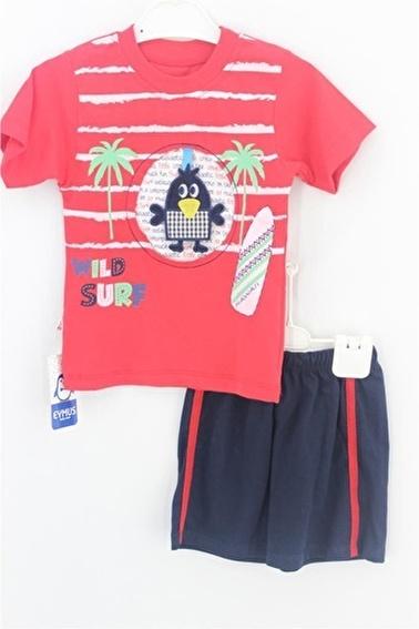 Sema Bebe Eymus Kaprili Takım Erkek Çocuk Giyim Kırmızı